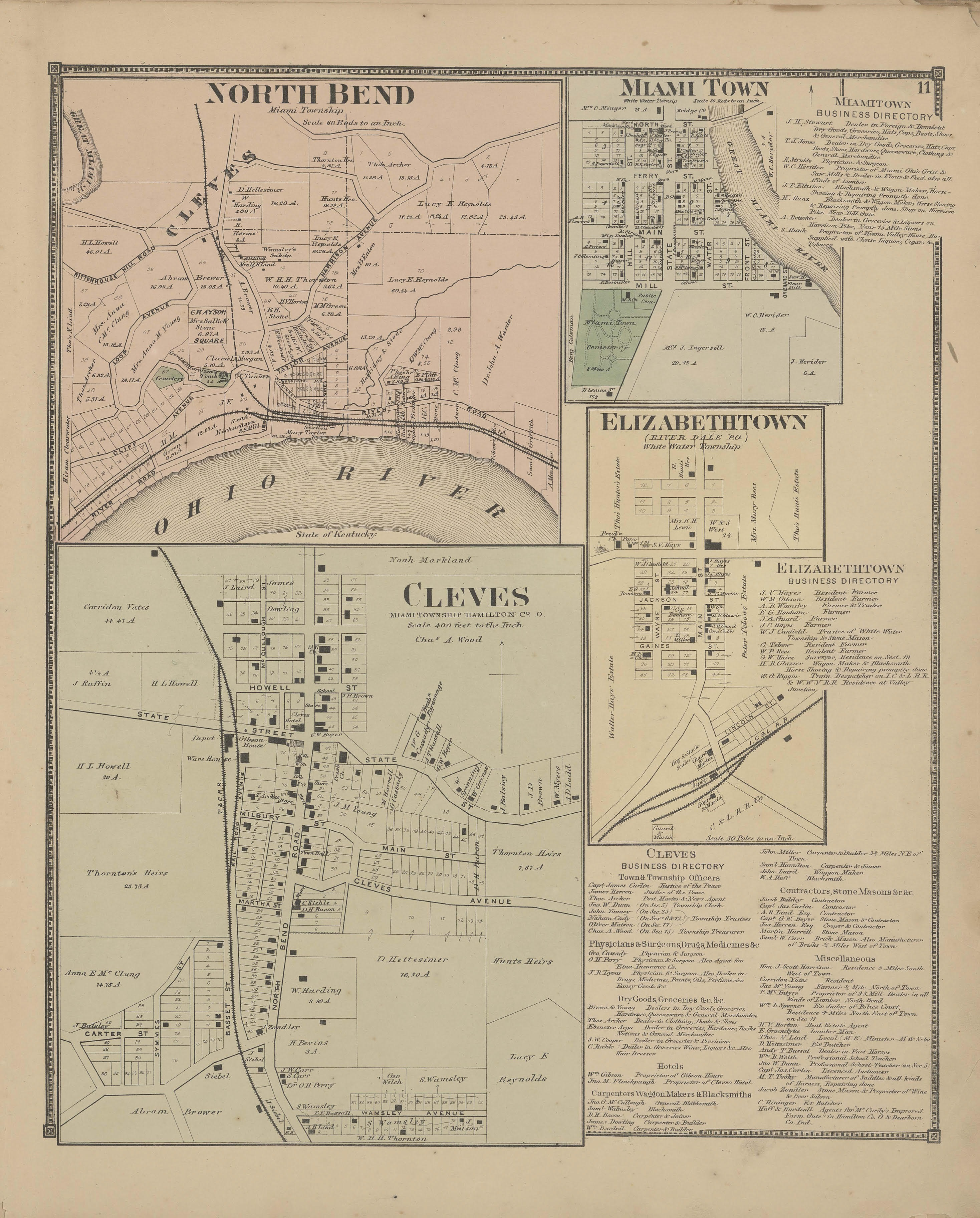 Miami Township Ohio Map.Community Village Of Cleves